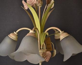 Beautiful painted toleware chandelier