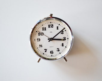 Vintage alarm clock PRIM repetit made in Czechoslovakia USSR