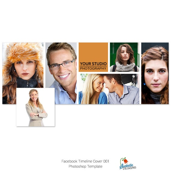 Facebook Timeline Cover Photoshop Template 001