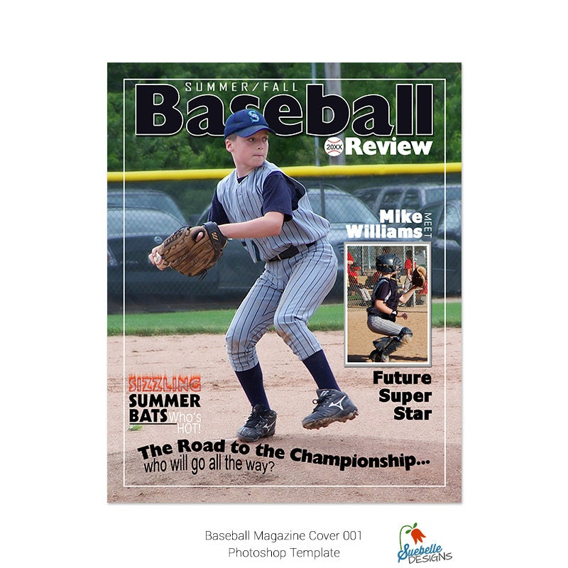 baseball magazine cover photoshop template. Black Bedroom Furniture Sets. Home Design Ideas