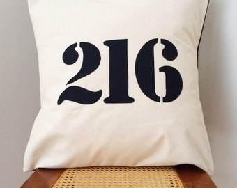216 Cleveland Pillow - Cleveland Area Code Pillow Cover