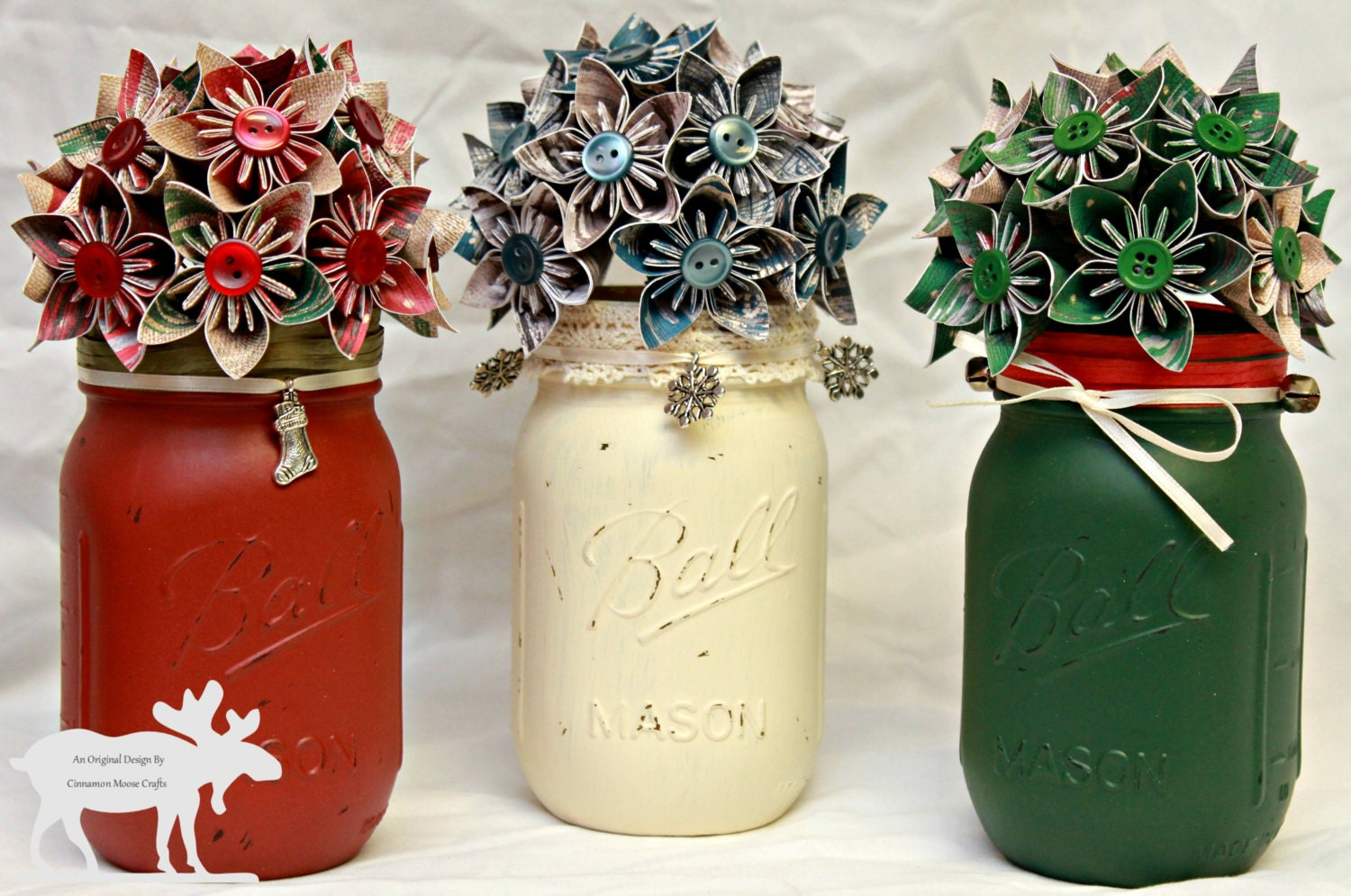Christmas mason jars mason jar decor by for Kitchen jar decoration