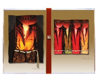 Sultry Cowgirls Artsy Southwestern Vibrant Color Greeting Cards Box of 8