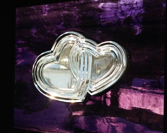 Two Hearts Glass Panel