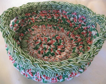 Crocheted Fabric Basket (medium)
