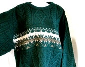 Vintage Fishermen Sweater Arancrafts Ireland Mens