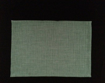 Placemats - Set of 6 pine green placemats