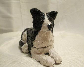 Border collie trinket box