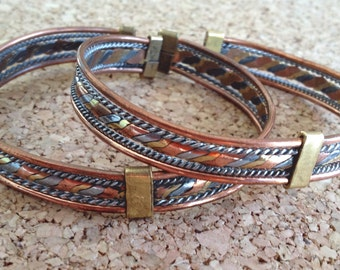 Sale - FREE SHIPPING Copper Bracelet Handcrafted in Africa