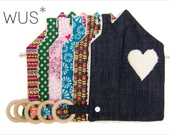 Organic cuddle cloth House - pattern choice