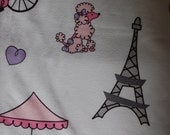 Poodle Queen bed sheets. Whether poodles,paris or the 1950's are your fancy.