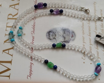 Custom Therapeutic Quality Gemstone Energy Necklace