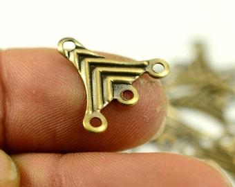 40 Pcs Antique Brass 16x17 mm Earrings Findings