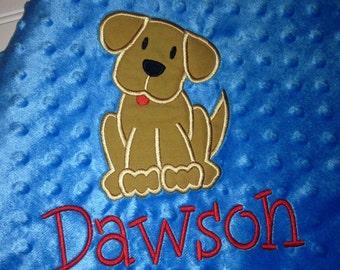 Dog Puppy Minky Minkee Blanket