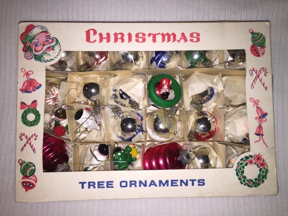 Sale Lot Vintage Small Christmas Ornaments By Abcvintagefinds