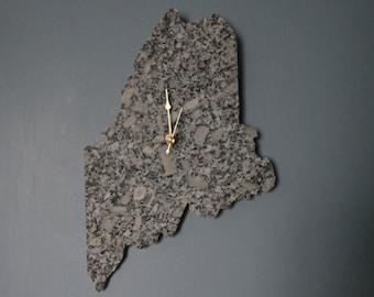 Granite Maine Clock - Maine Shaped Clock