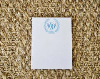 Monogrammed Personalized Coastal Notepad