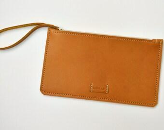 Handmade Leather Wristlet