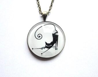 Necklace Cat black