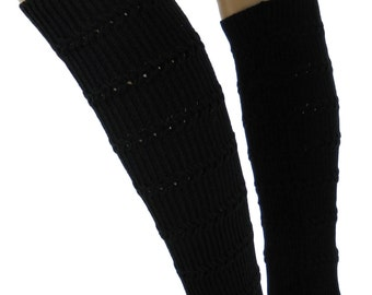 FN900 set warmer leg warmers knitting Gloves black