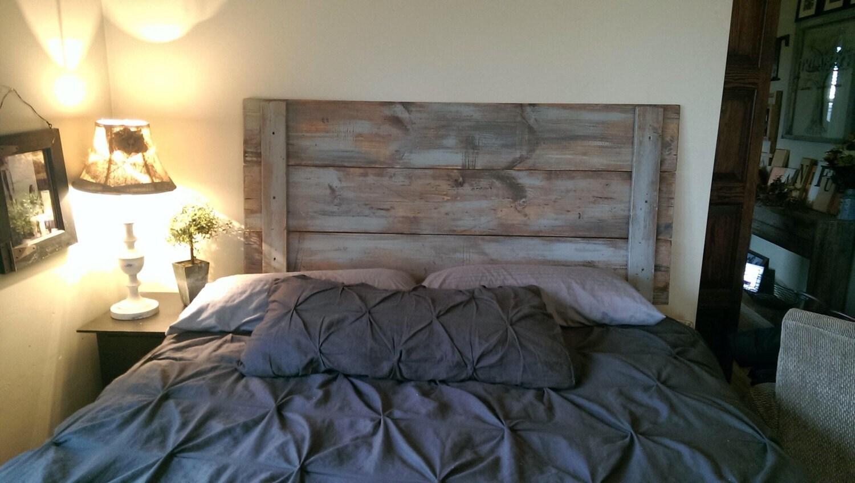 t te de lit peinte gris us. Black Bedroom Furniture Sets. Home Design Ideas