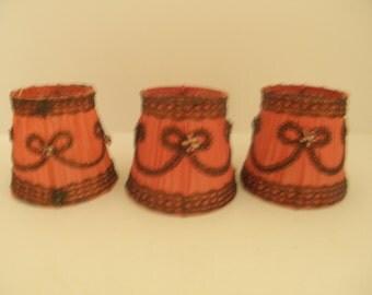 Antique Silk Shades  - Set of 3