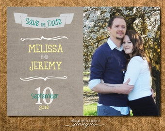 Save the Date with picture. Printable Save the Date 5x7.
