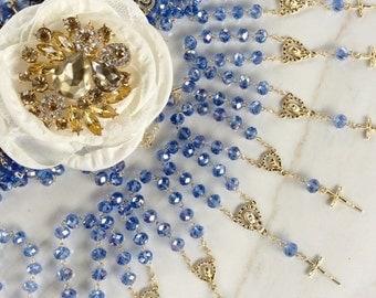 70 pcs crystal Rosaries, Decade Rosaries,  First communion favors Recuerditos Bautizo 70pz/ Mini Crystal Rosary Baptism Favors 70 pcs