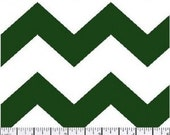 1 inch Chevron --- Hunter Chevron --- Green Chevron --- Medium Chevron --- Fabric By The Yard