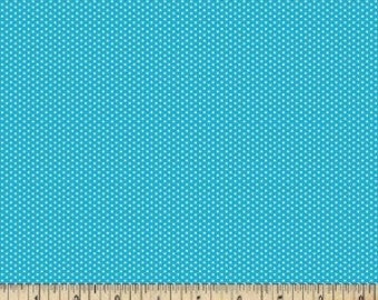 Turquoise Pin Dot Fabric ---- 100 Percent Cotton --- Fabric By The Yard