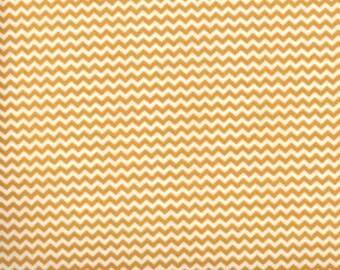 Mini Chevron --- Gold Chevron Fabric --- Cotton Fabric --- Fabric by the Yard