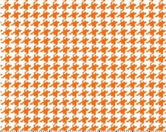 Orange Houndstooth Fabric --- 100 Percent Cotton --- Fabric By The Yard