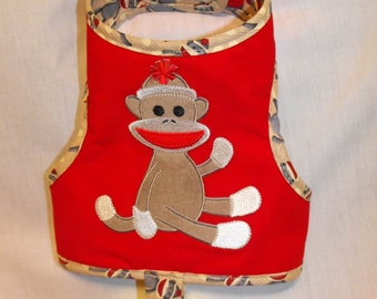 sock monkey harness vest