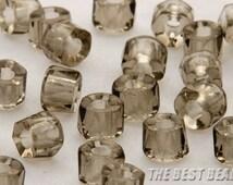 30pcs Gray Roller Fire Polished Czech Beads 6mm