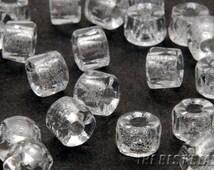 30pcs Clear Roller Fire Polished Czech Beads 6mm