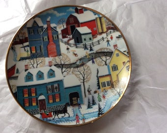 Winter's Eve Collectable Plate Reduced