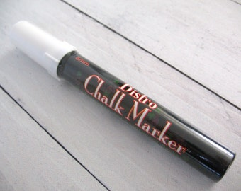 WHITE CHALK MARKER 6mm Medium Bullet Point Liquid Uchida Bistro Chalkboard Blackboard Vinyl Black Chalk Board Dry Erase Menus Wall Decals