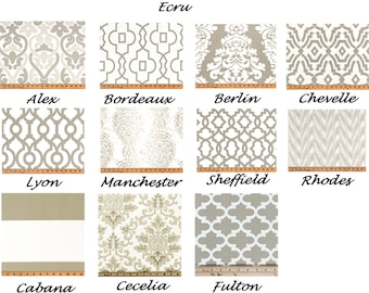 Ecru Curtains,Beige Curtains, Valance, Custom Curtains,Pair Drapery Panels,24 wide,52 wide, 52 x 84,63,96,108, Beige Damask,Tan Moroccan