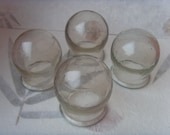 Soviet Vintage Medical Apothecary Jars, Set of 4, Made in USSR in 1970s