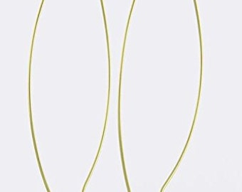 Large Gold Wire Earrings Minimalist
