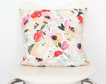 Anemone & Roses - Throw Pillow
