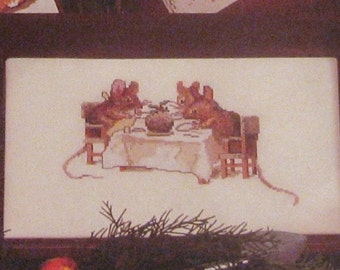 the christmas dinner  beatrix potter cross stitch CHART INSTRUCTIONS ONLY