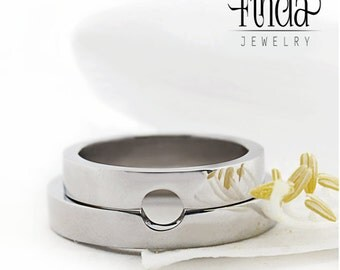 Connection shine wedding band | couples rings| alternate wedding rings