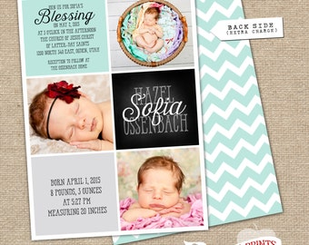 LDS Birth and Blessing Announcement