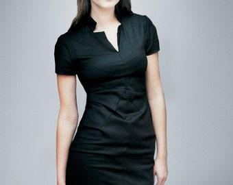 A.L.E.X.I.S. black shift dress