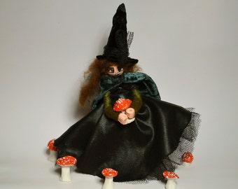 Violet - witch art doll