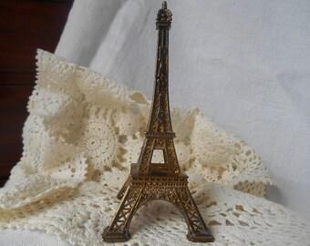 Vintage Paris Eiffel Tower French Souvenir Metallic Figurine for Paris Lovers #sophieladydeparis