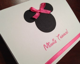 Minnie Thank You Cards, 'Minnie Thanks' Birthday Thank You Cards