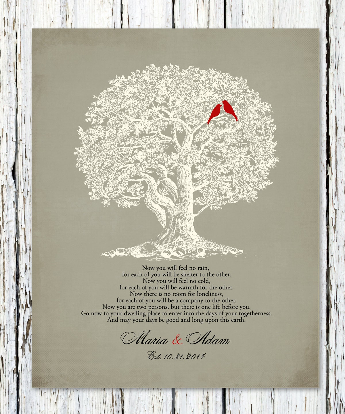 The NAVAJO WEDDING BLESSING Poem Print Personalized Wedding