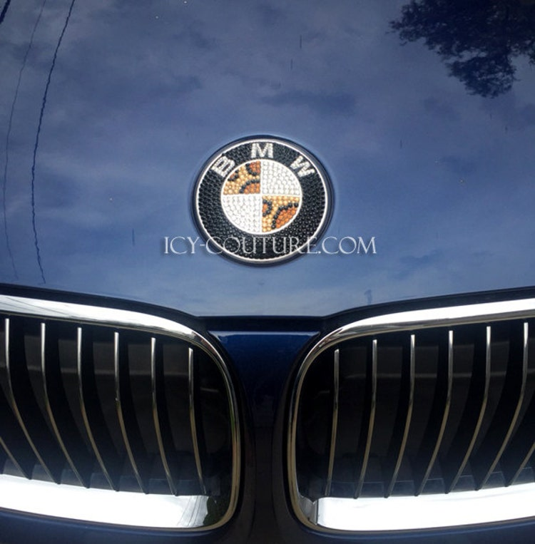 Where Are BMW Made >> Leopard Bling BMW Emblem Custom Bedazzled Crystal by ...